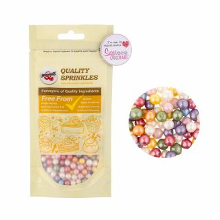 Quality Sprinkles Pearlised Pearls RAINBOW 6mm 65g