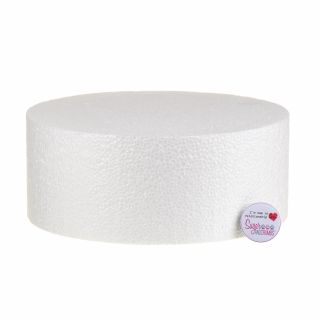 10x04 Inch ROUND Straight Edged Cake Dummy