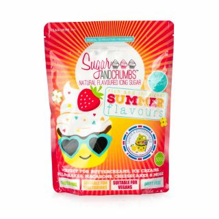 Sugar and Crumbs Natural Flavoured Icing Sugar LEMON AND ELDERFLOWER 500g