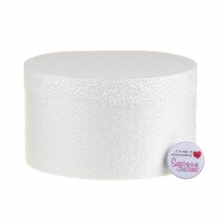 07x04 Inch ROUND Straight Edged Cake Dummy