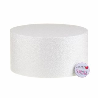 08x04 Inch ROUND Straight Edged Cake Dummy