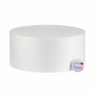 09x04 Inch ROUND Straight Edged Cake Dummy