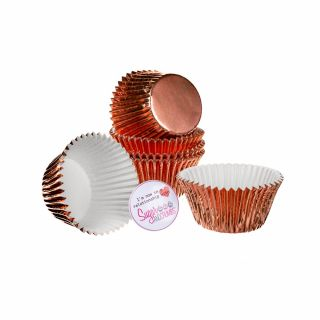 CULPITT Baking Cases Foil ROSE GOLD Pack of 45