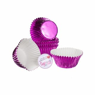 CULPITT Baking Cases Foil PINK Pack of 45