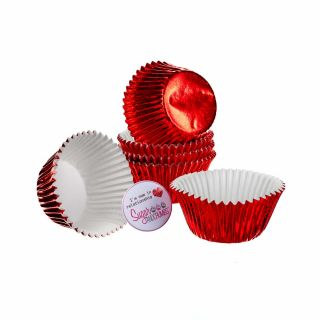 CULPITT Baking Cases Foil RED Pack of 45
