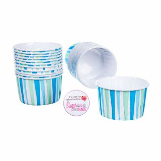 CULPITT Baking Cups BLUE STRIPED Pack of 24
