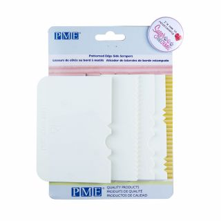 PME Patterned Edge Side Scrapers 4.5 Inch Pack of 4