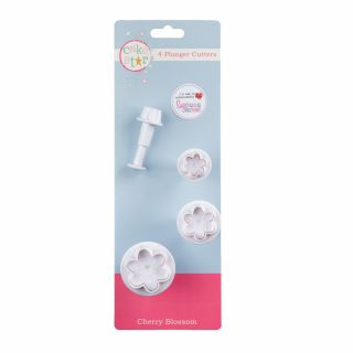 Cake Star Plunger Cutters CHERRY BLOSSOM Set of 4