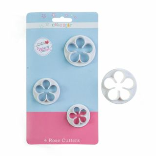 Cake Star Cutters ROSE Set of 4