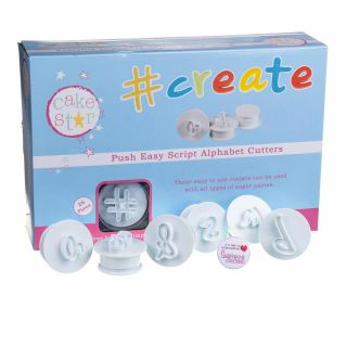 Cake Star Push Easy Cutters SCRIPT ALPHABET LOWERCASE NEW