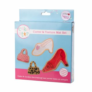 Cake Star Texture Mat and Cutter Set BAGS and SHOES