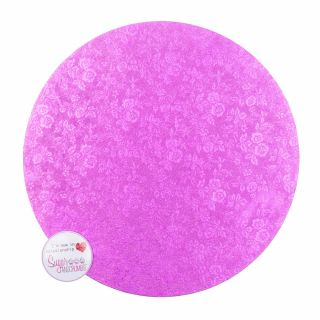 Cake Board Round PINK Masonite 08 Inch