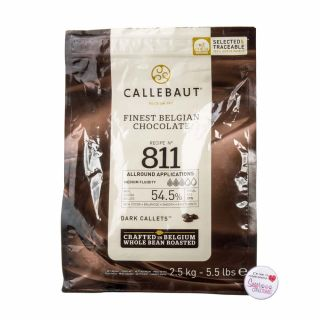 Callebaut Recipe N°811 Belgium DARK CHOCOLATE Large Bag 2.5Kg