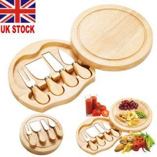 Cheese Serving Set with Integrated Knife Compartment