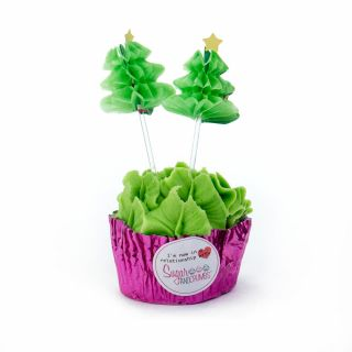 Culpitt Honeycomb GREEN CHRISTMAS TREE Pack of 12