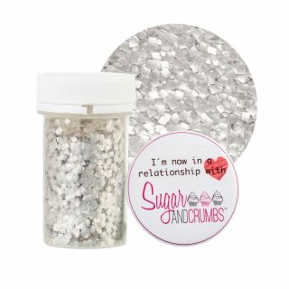 CK Products Glitter Squares SILVER