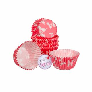 Cake Star Cupcake Cases BLUSH BUTTERFLY Pack of 54