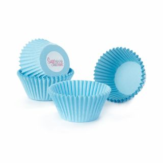 Cake Star Cupcake Cases PALE BLUE Pack of 50