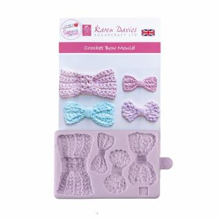 Karen Davies Silicone Mould CROCHET BOW