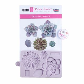 Karen Davies Silicone Mould Succulent