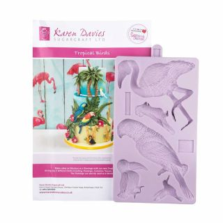 Karen Davies Silicone Mould Tropical Birds