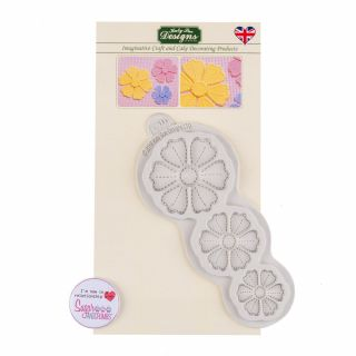 Katy Sue Silicone Mould Stitched Flowers PRETTY PETALS