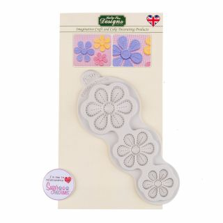 Katy Sue Silicone Mould Stitched Flowers BLOSSOMS
