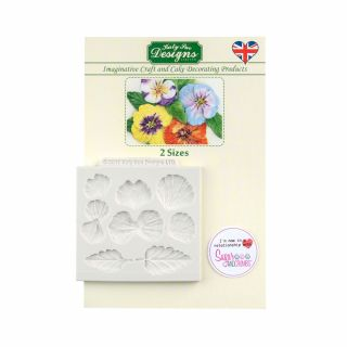 Katy Sue Silicone Mould PANSIES