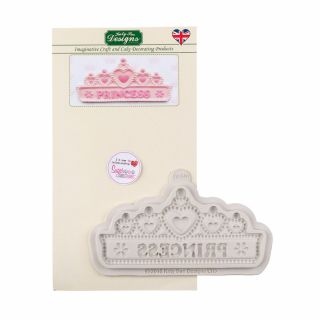 Katy Sue Silicone Mould PRINCESS TIARA BANNER