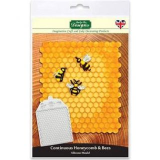 Katy Sue Silicone Mould Honeycomb and Bees