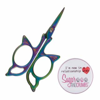 Mini Muti Coloured Craft Scissors Vintage Butterfly