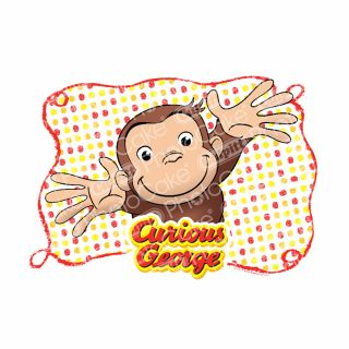 PhotoCake A4 Image Curious George Let's Celebrate