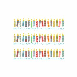PhotoCake Strips BIRTHDAY BLOWOUT CANDLES