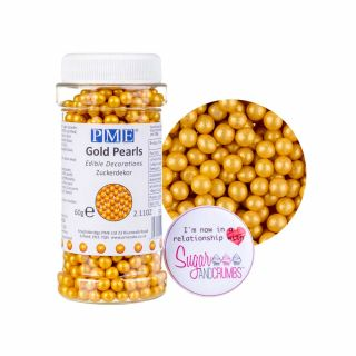 PME Sugar Pearls GOLD 60g