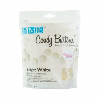 PME Candy Buttons BRIGHT WHITE 284g