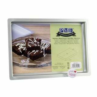 PME Professional Bakeware Brownie Oblong Pan 08 x 12 x 01inch