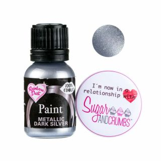 Rainbow Dust Paint METALLIC DARK SILVER