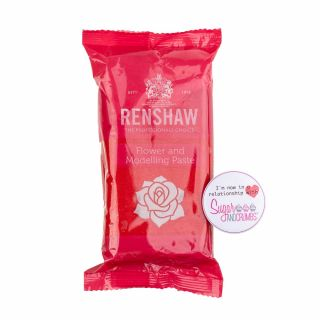 Renshaw Flower and Modelling Paste CARNATION RED 250g