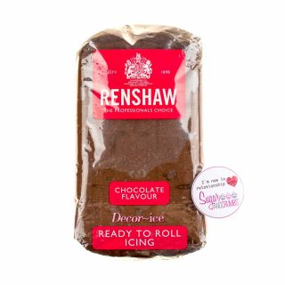 Renshaw Sugarpaste Ready to Roll CHOCOLATE 250g