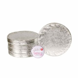 Cake Drum ROUND 04 Inch Pack of 5