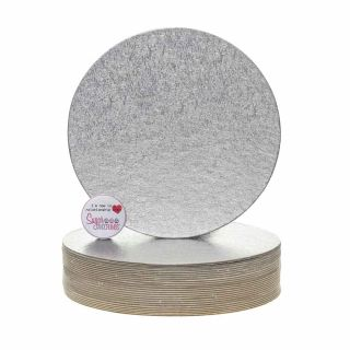 Cake Card Cut Edge ROUND 07 Inch Pack of 25