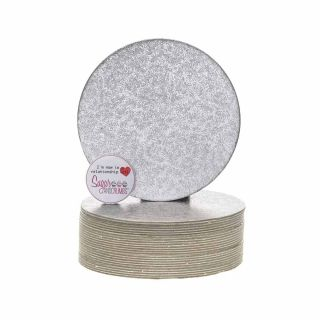 Cake Card Cut Edge ROUND 05 Inch Pack of 25