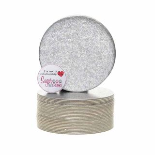 Cake Card Cut Edge ROUND 04 Inch Pack of 25
