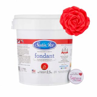 Satin Ice Fondant RED 2.5 Kilos