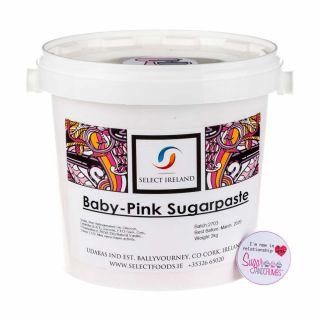Select Ireland Sugarpaste SUPREME SILK BABY PINK 2Kg