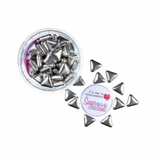 Scrumptious Silver Metallic TRIANGLES 80g