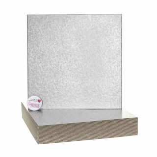 Cake Card Cut Edge SQUARE 09 Inch Pack of 25