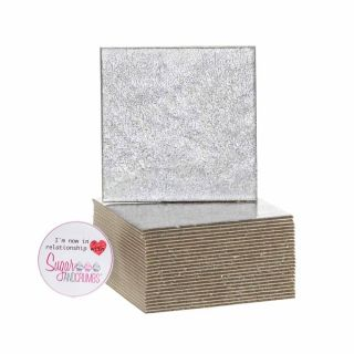 Cake Card Cut Edge SQUARE 03 Inch Pack of 25
