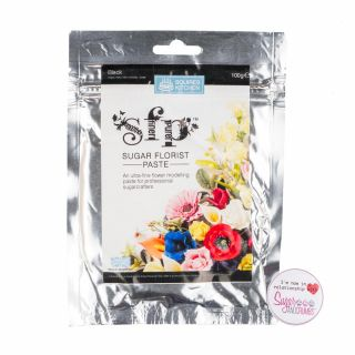 Squires Kitchen Florist Paste BLACK 100g