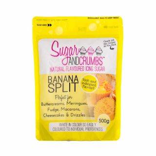 Sugar and Crumbs Natural Flavoured Icing Sugar BANANA SPLIT 500g